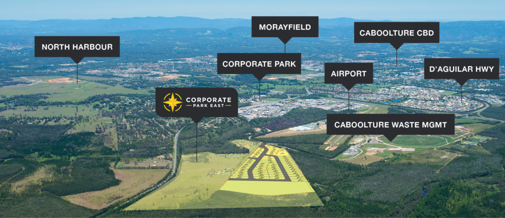 Corporate Park East aerial map